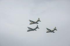 TEL AVIV, ISRAËL 2014 6 Mei: Israëlische Luchtmachtvliegtuigen (drie Royalty-vrije Stock Foto
