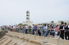 TEL AVIV, ISRAËL 2014 6 Mei: Onafhankelijkheidsdag, Jachthaven, tijdens Ai Royalty-vrije Stock Foto's