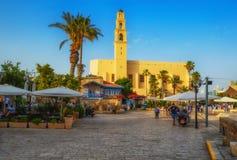 Tel Aviv, Israël, oude steenstraten in Arabische stijl in Oude Jaffa royalty-vrije stock foto