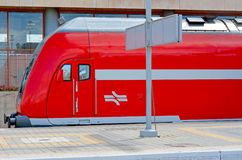 Tel Aviv - Israel. TEL AVIV - APR 01 2015:An Israeli Bombardier double-deck coach in Tel Aiv, Israel.The current generation can be run at speeds up to 160 km/h ( Stock Image