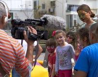 Children and the art stock photo