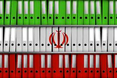 TEL AVIV, ISRAEL, 30 April 2018 - 3D Rendering for Israel revealing 100 000 Iranian files on secret nuclear program. 3D Rendering of secret files made to look stock illustration