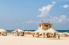 Beach of the Mediterranean Sea in Tel Aviv, Israel royalty free stock photo