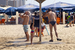 Summer at the Beach in Tel-Aviv Stock Image