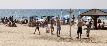 Summer at the Beach in Tel-Aviv Stock Images