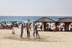 Summer at the Beach in Tel-Aviv Stock Photo