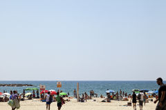 Summer at the Beach in Tel-Aviv Royalty Free Stock Photo