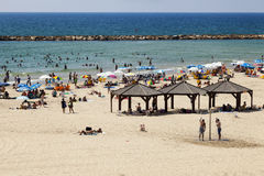 Summer at the Beach in Tel-Aviv Stock Photos