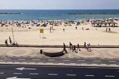 Summer at the Beach in Tel-Aviv Royalty Free Stock Image