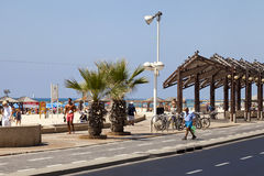Summer at the Tel-Aviv Boardwalk and Beach Stock Photography