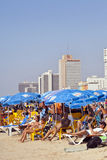 Summer at the Beach in Tel-Aviv Royalty Free Stock Images