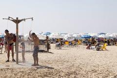 Sommar på stranden i Tel Aviv Royaltyfri Foto
