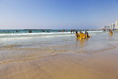 Summer at the Beach in Tel-Aviv Royalty Free Stock Photography