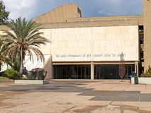 TEL AVIV, ISRAEL. Building of Tel-Aviv museum of Fine Arts royalty free stock image