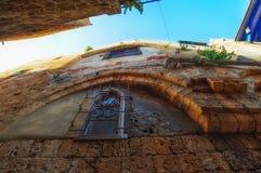 Tel Aviv, Israel, calles de piedra antiguas en estilo árabe en Jaffa viejo Fotos de archivo