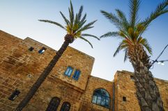 Tel Aviv, Israel, calles de piedra antiguas en estilo árabe en Jaffa viejo Foto de archivo