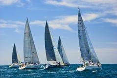 Tel Aviv, Israel - 15 de maio de 2010: Ofek Yachts a competição do copo Fotos de Stock
