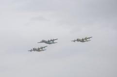 TEL AVIV, ISRAEL 2014 6 de mayo: Aeroplanos israelíes de la fuerza aérea (tres Fotos de archivo libres de regalías