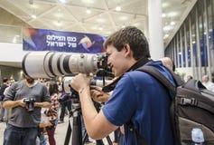 Tel Aviv, Israel - 31 de octubre - photogr de la conferencia Fotografía de archivo