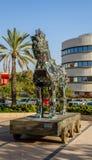 Cyber Horse, Tel Aviv University. TEL AVIV, ISRAEL - DECEMBER 5: Cyber Horse, sculpture of Trojan horse at Tel Aviv University, Israel on December 5, 2016 Royalty Free Stock Photography