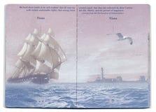 Tom sida för USA pass Arkivbilder