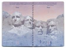 Tom sida för USA pass Fotografering för Bildbyråer