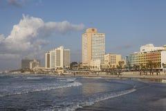 TEL AVIV ISRAEL - December 26, 2016: Tel Aviv strand: strand Royaltyfria Foton