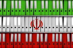 TEL AVIV, ISRAEL, el 30 de abril de 2018 - representación 3D para Israel que revela 100 000 ficheros iraníes en programa nuclear  stock de ilustración