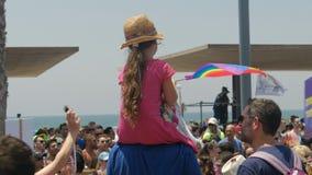 Tel Aviv, Israel, am 8. Juni 2018 homosexuelles Pride Parade stock footage