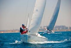 Tel Aviv, Israel - 15. Mai 2010: Ofek Yachts Schalenwettbewerb Lizenzfreie Stockfotografie