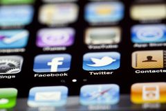 IPhone 4 - Apps Macro Royalty Free Stock Photos
