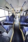 Israeli Bus Winter Morning royalty free stock photos