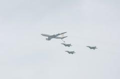 TEL AVIV, ISRAEL 2014 May 6: Israeli Air Force airplanes (fighte Royalty Free Stock Photos