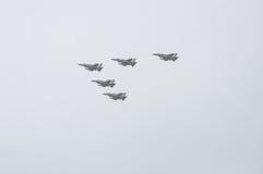 TEL AVIV, ISRAEL 2014 May 6: Israeli Air Force airplanes (five j Royalty Free Stock Images