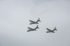 TEL AVIV, ISRAEL 2014 May 6: Israeli Air Force airplanes (three Royalty Free Stock Photo