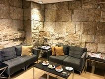 Massada Lounge at the Ben Gurion Airport. TEL AVIV, ISRAEL - MAY 10, 2018: A room inside The Massada Lounge at the Ben Gurion Airport Royalty Free Stock Photo