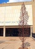TEL AVIV, ISRAEL. A monument to the dead in World War II near the building of Tel-Avivsky museum of Fine Arts stock image
