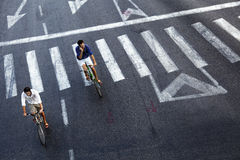 Urban Bicycle Riders Royalty Free Stock Photo