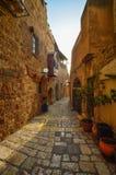 Tel Aviv, Israel, ruas de pedra antigas no estilo árabe em Jaffa velho Imagem de Stock