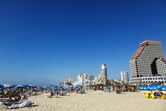 Tel Aviv Beach & Hotel Strip Stock Photos
