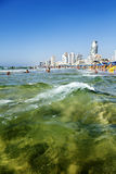 Tel Aviv Beach & Hotel Strip Stock Photo