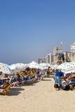 Sommar på stranden i Tel Aviv Israel Royaltyfri Fotografi