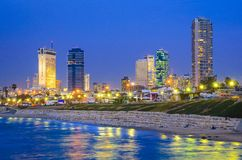 Tel Aviv, Israel Skyline Foto de archivo