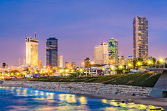 Tel Aviv, Israel. Skyline on the Mediterranean stock photos