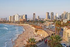Tel Aviv, Israel. View from Jaffa Stock Photos