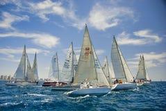 Tel Aviv, Israele - 15 maggio 2010: Concorrenza della tazza degli yacht di Ofek Fotografia Stock Libera da Diritti