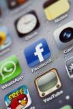IPhone 4 - Macro di Apps Fotografie Stock Libere da Diritti