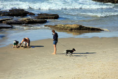 TEL AVIV, ISRAËL – NOVEMBER 30: Onbekende familie op vakantie op de Middellandse Zee bij het strand van Tel. Baruch op 30 November Royalty-vrije Stock Foto's