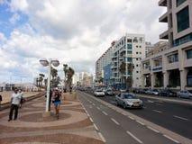 Tel Aviv, Jerusalem Beach. A daily hike across the Jerusalem coast Royalty Free Stock Images