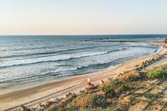Tel Aviv kust Arkivbild